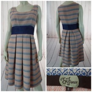 Eva Franco Dress 6 Anthropologie CottonBlend Pleat